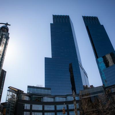 ガラス張りの高層ビル群(ニューヨーク)の写真