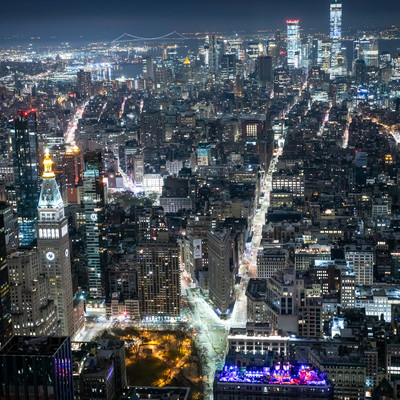 エンパイアステートビル展望台から見た夜景(ニューヨーク)の写真