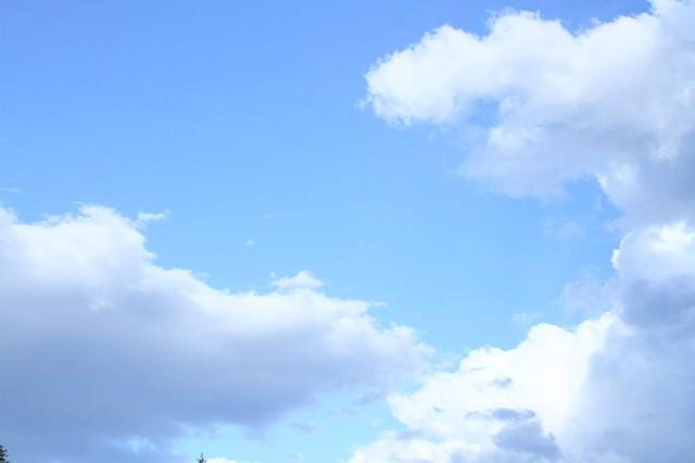 青空と雲の写真