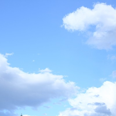 「青空と雲」の写真素材