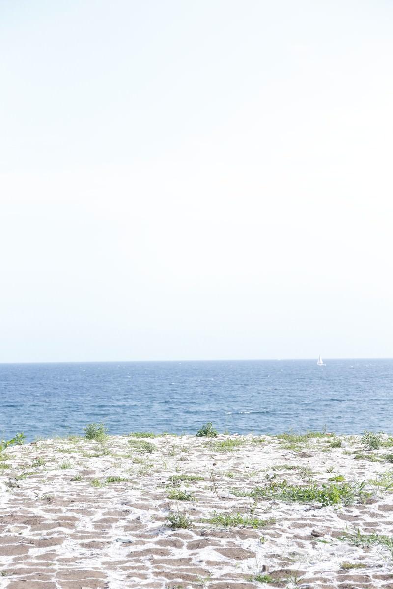 「誰もいない海」の写真