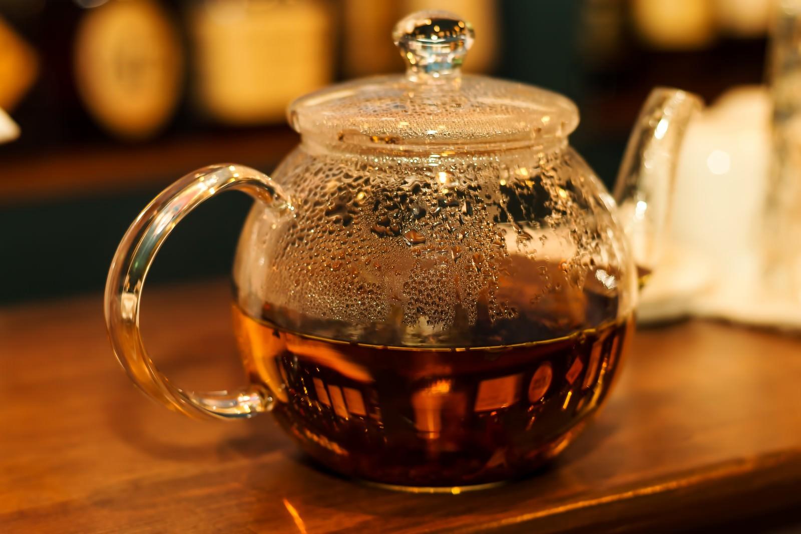 「紅茶のティーポット」の写真