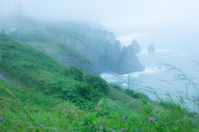 崖のある海、大自然とぼくの写真