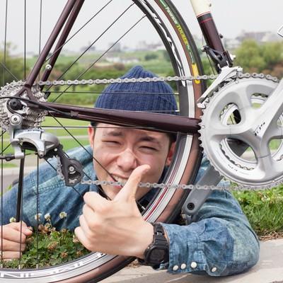 「このコンポいいよ!とおすすめする自転車系YouTuber」の写真素材