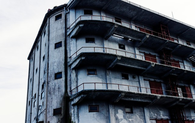古い倉庫の写真