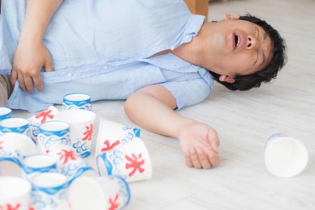 夏のかき氷の食べ過ぎ注意の写真