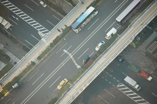 鳥になれたら・・空から俯瞰した道路の写真