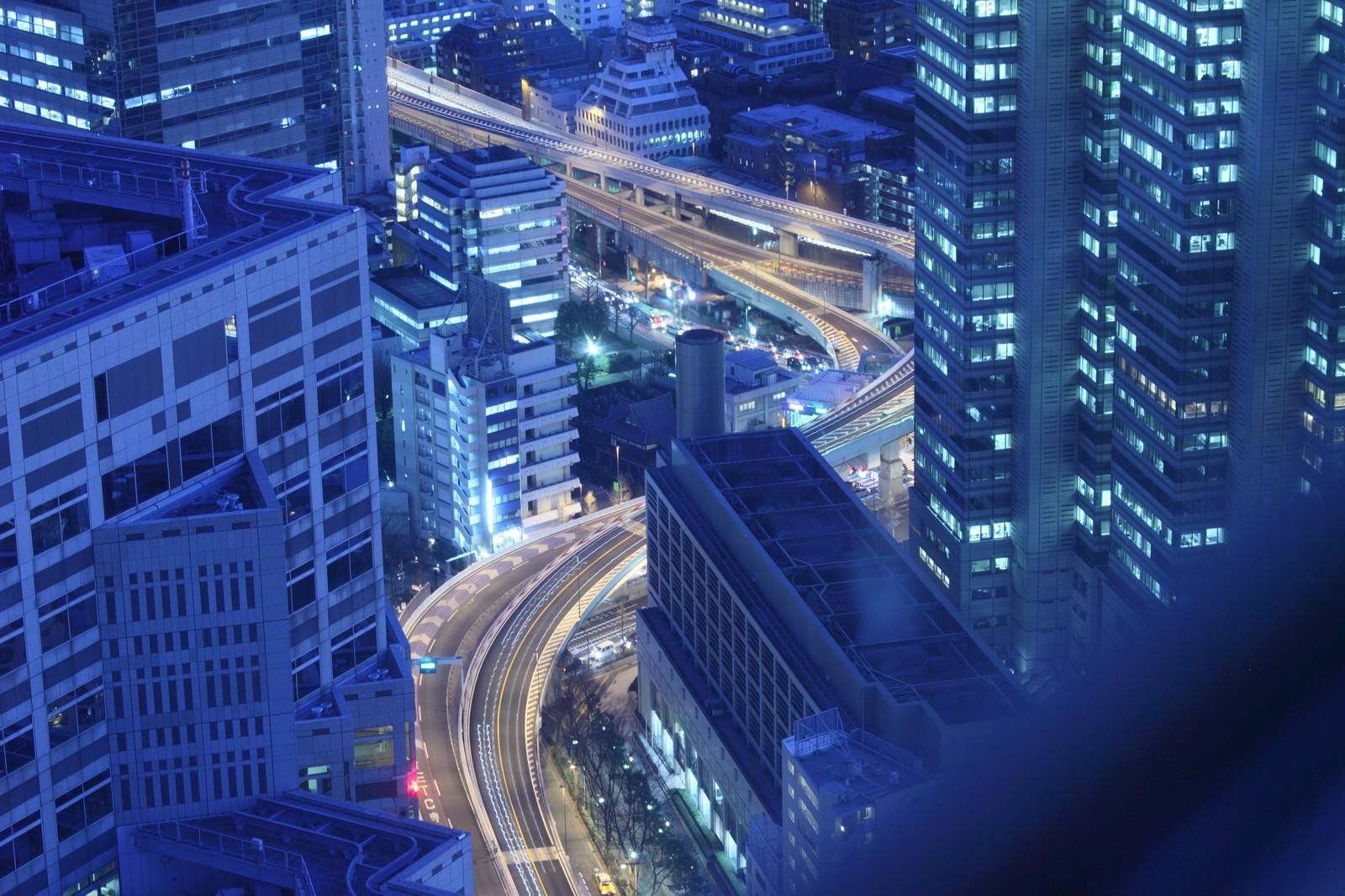 「一歩先には東京の高層夜景一歩先には東京の高層夜景」のフリー写真素材