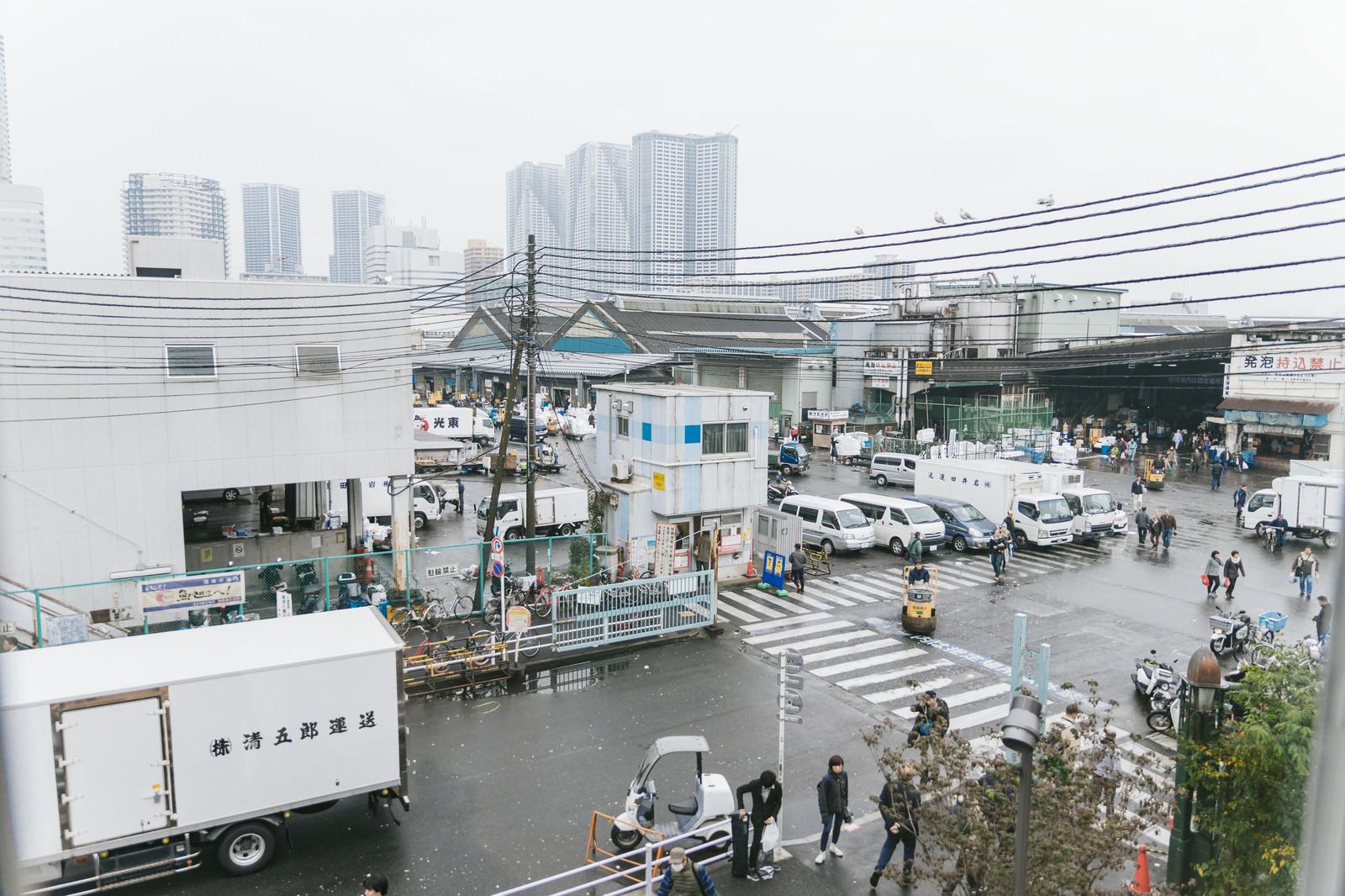 「築地市場入り口」の写真