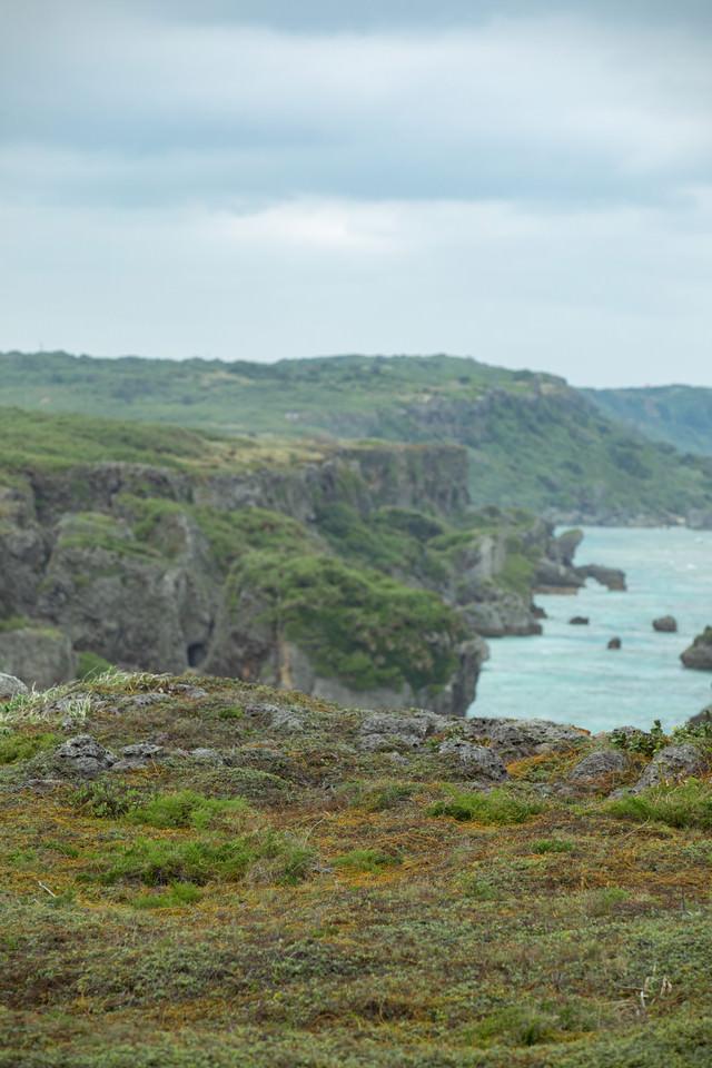 宮古島の断崖の写真