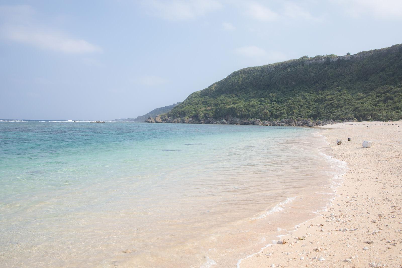 「白い砂浜と青いビーチ」
