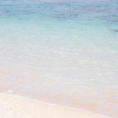 透き通る海と波打ち際の写真