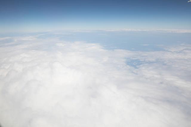 上空の空(雲海)の写真