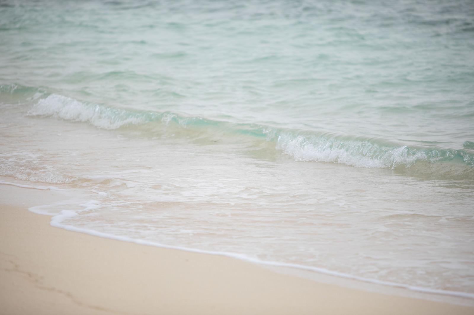 「綺麗な海と波打ち際」の写真