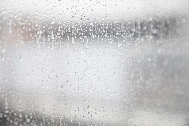 「雨の日の窓」のフリー写真素材