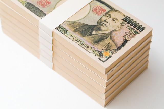 100万円(偽札)の束の写真