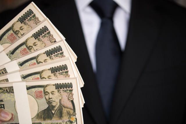 500万円の偽札をひけらかすの写真