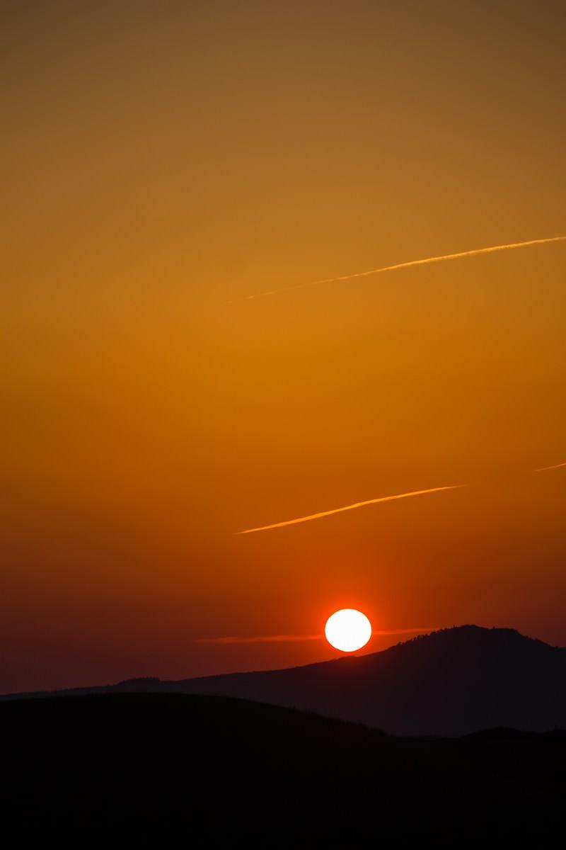 「阿蘇からの夕日」の写真