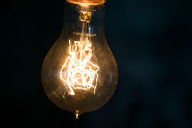 ビンテージ電球の写真