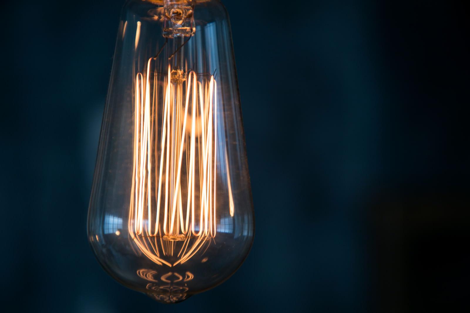 「古きレトロな電球」の写真