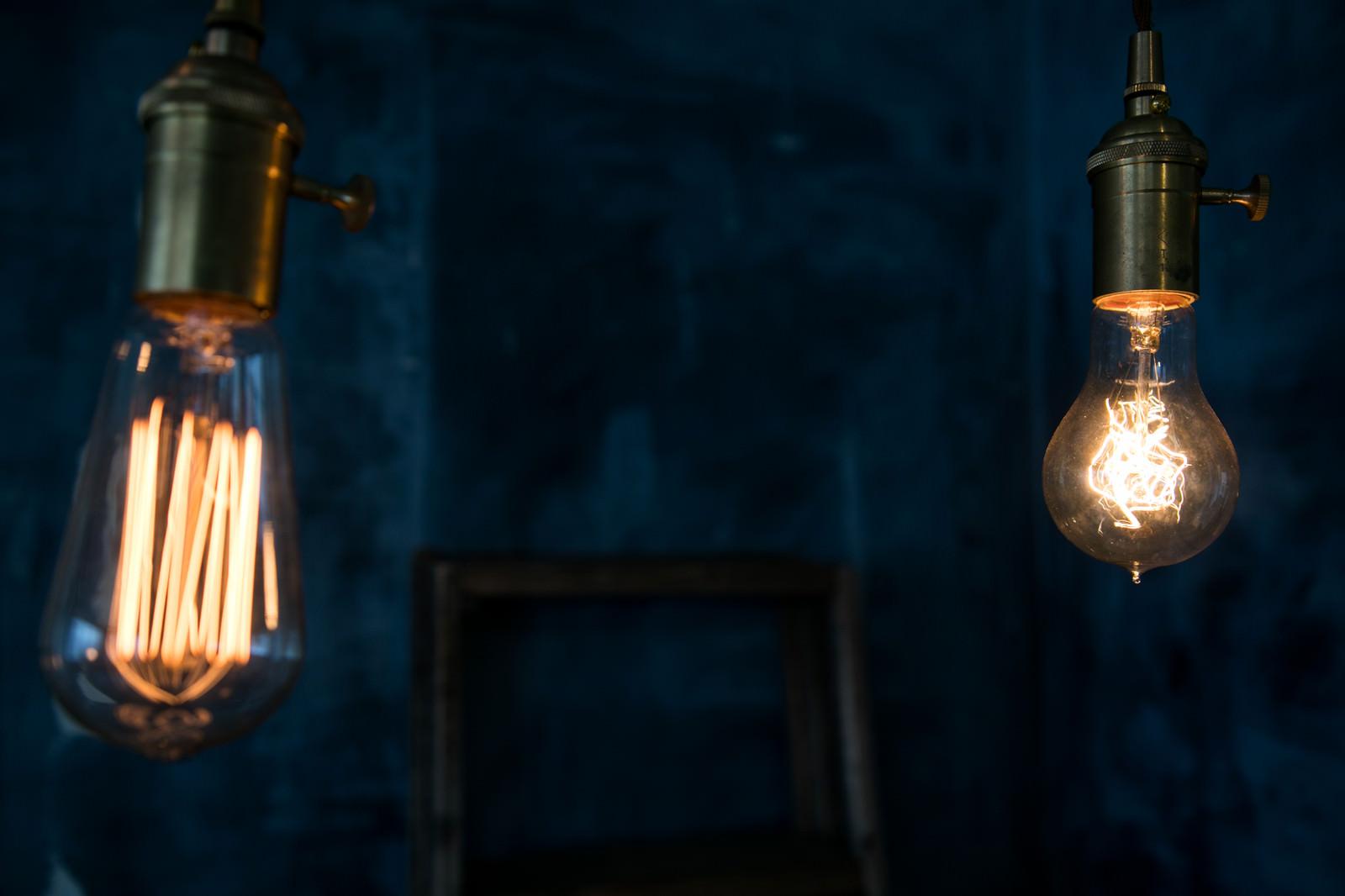 「レトロな白熱電球」の写真