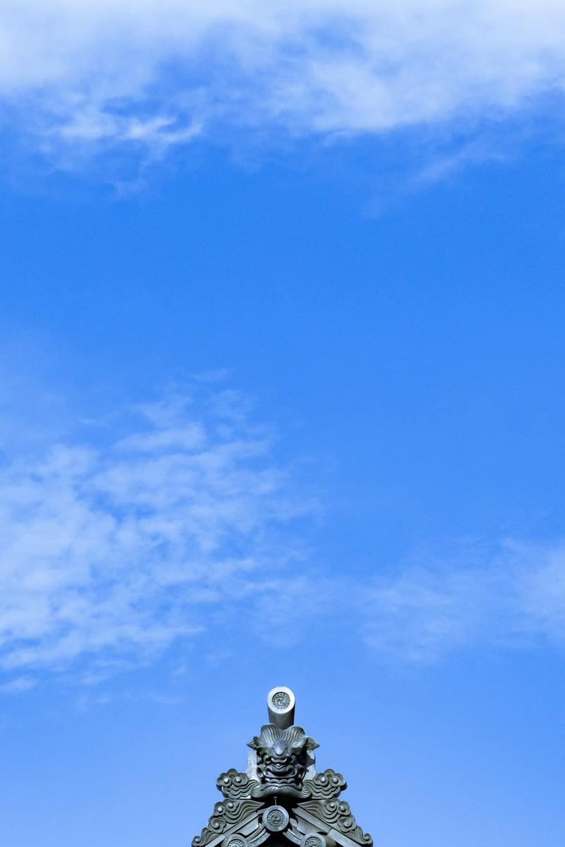 「隅鬼(すみおに)と青空」の写真