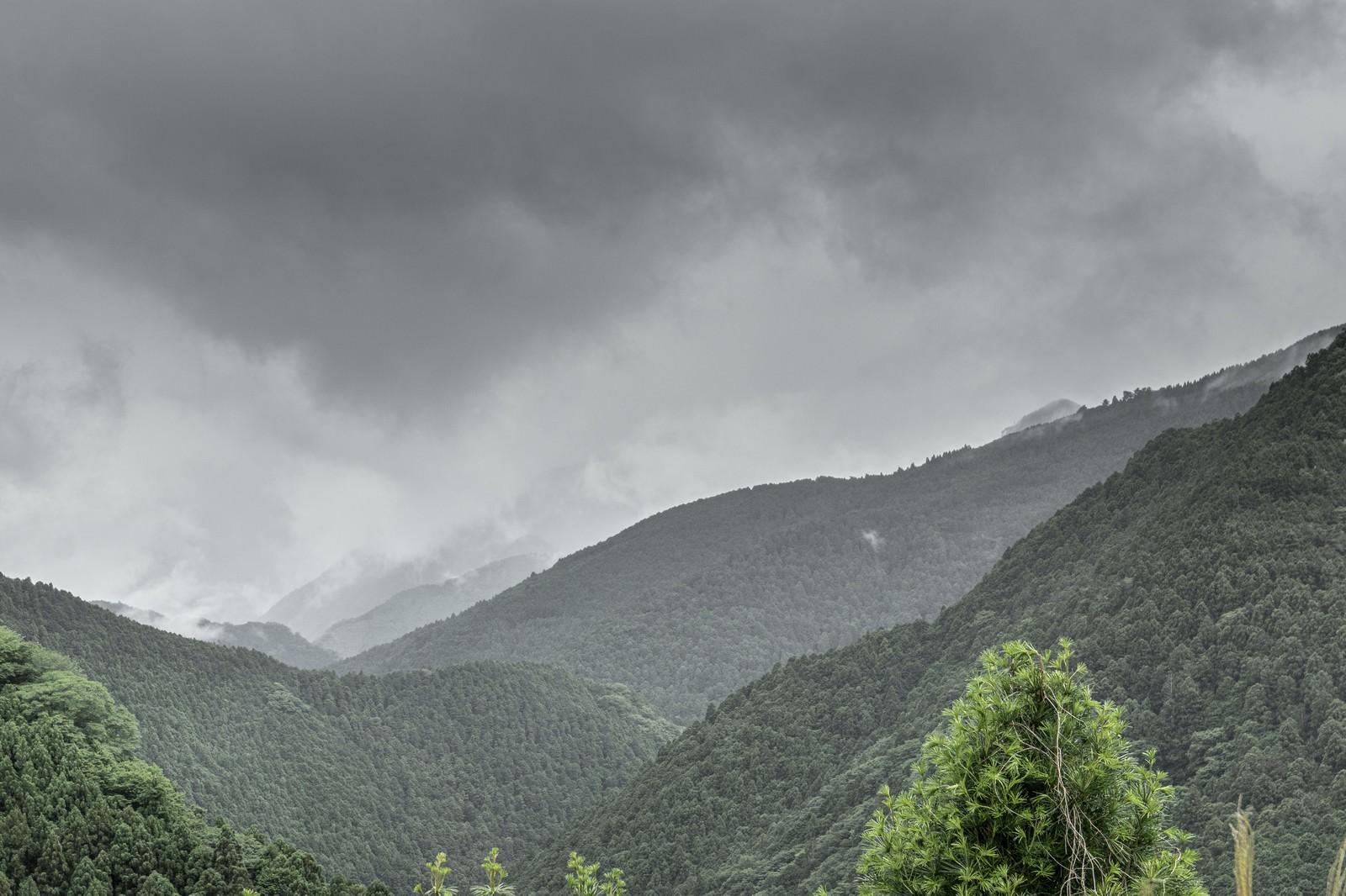 「連なる山」の写真