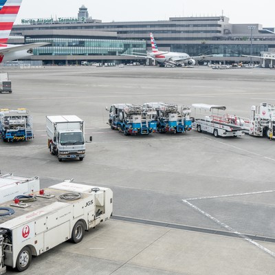 成田空港フライト前の写真