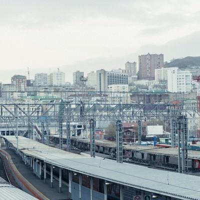 「海外の駅と街並み」の写真素材