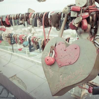 橋に取り付けられた南京錠の写真