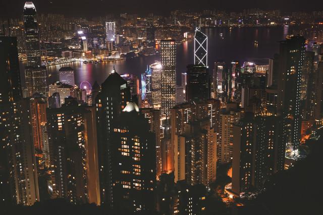 100万香港ドルの夜景の写真