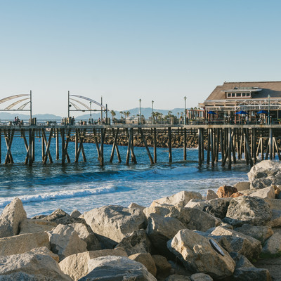 木橋のレドンドビーチの写真
