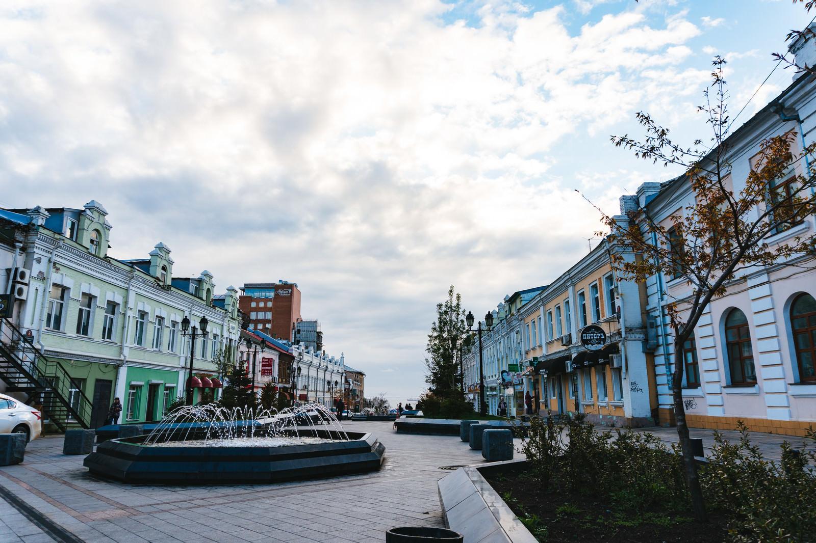 「ウラジオストクの街並み」の写真