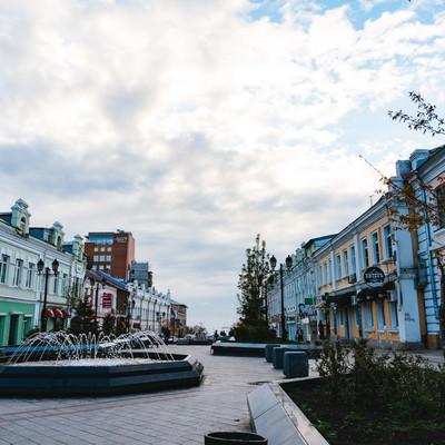 ウラジオストクの街並みの写真