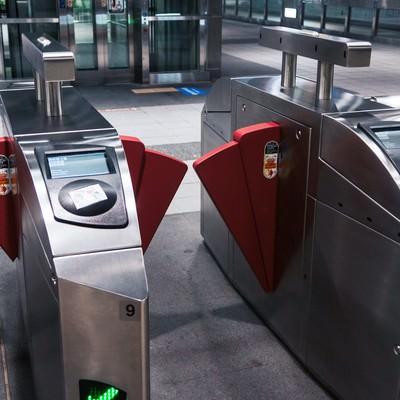 台北の地下鉄改札の写真