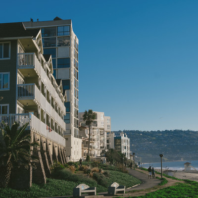 「レドンドビーチと建物」の写真素材