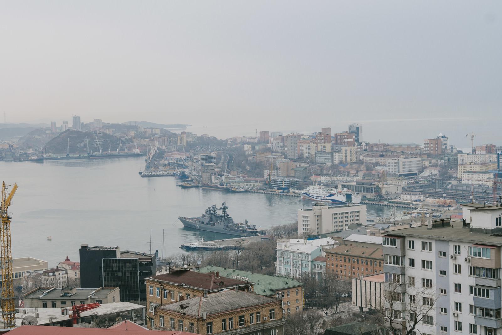 「ウラジオストクの港」の写真
