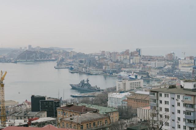 ウラジオストクの港の写真