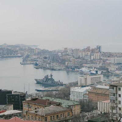 「ウラジオストクの港」の写真素材