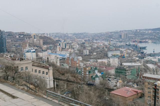 ウラジオストック(ロシア)の街並みの写真
