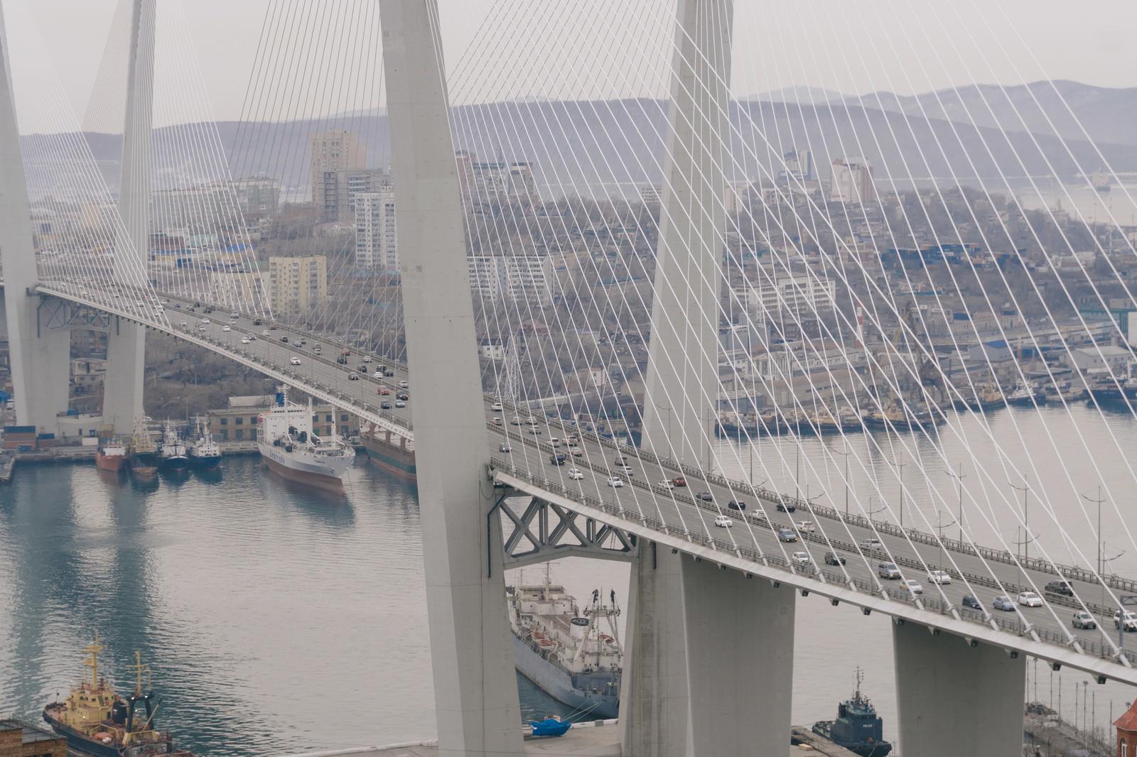 「ウラジオストクの黄金橋ウラジオストクの黄金橋」のフリー写真素材を拡大