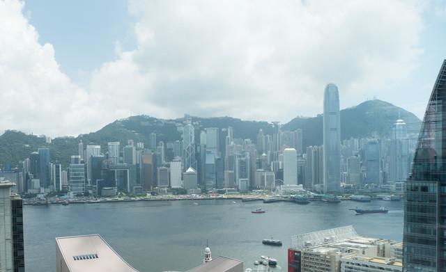 香港の都市部の写真