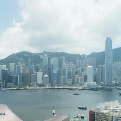 「香港の都市部」の写真素材