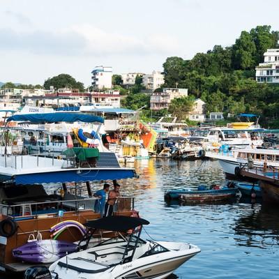 「サイゴンの船溜」の写真素材