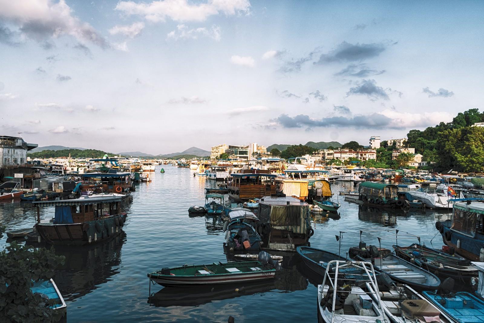 「西貢(サイゴン)の港沿い」の写真