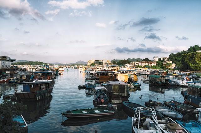 西貢(サイゴン)の港沿いの写真
