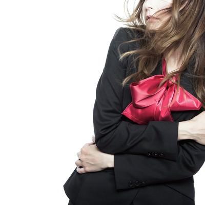 「セクハラ上司の一言に気持ち悪っ!と震えが止まらない女性」の写真素材