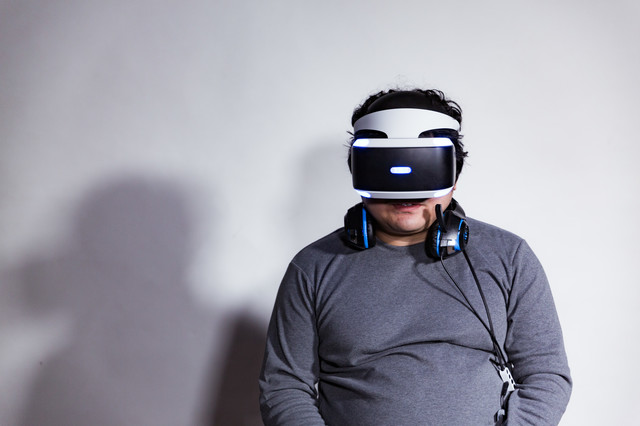 VR酔して一息ついたところの写真