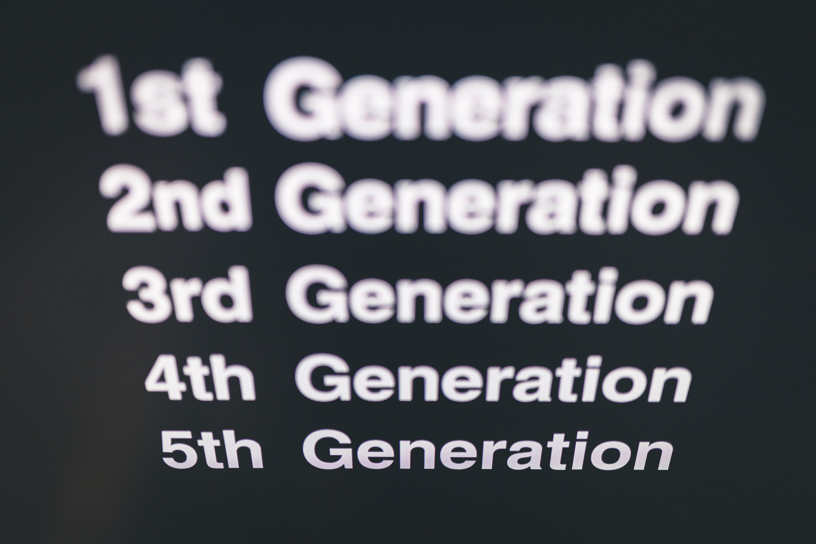 「1st Generation ~ 5th Generation」の写真