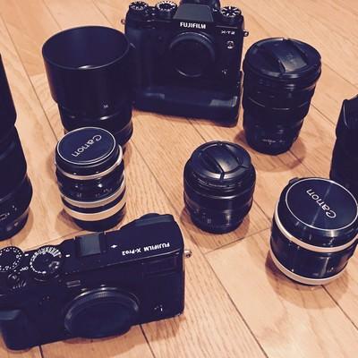 所有するレンズやカメラの写真